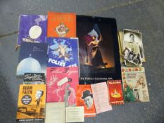 THE PIRELLI CALENDAR 1991, VARIOUS STAGE AND SCREEN PHOTOGRAPHS WITH SOME SIGNED, THEATRE