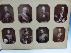 AN ALBUM OF TWENTY FIVE PHOTOGRAPHIC PORTRAITS OF NAVAL AND MILITARY LEADERS OF THE BOER WAR PERIOD,