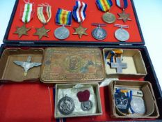 MEDALS- WWI PAIR TO PTE.W J WEBB KINGS ROYAL RIFLES CO. TOGETHER WITH ITALY WAR MERIT CROSS. AND A