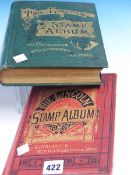 TWO LINCOLN STAMP ALBUMS WITH VARIOUS CONTENT. (2)