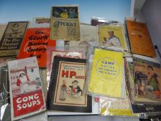 A COLLECTION OF RECIPE AND GUIDE BOOKS PRODUCED BY AND TO PROMOTE FAMOUS PRODUCTS.