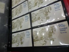 AN ALBUM OF POSTAGE STAMPS IN THEIR ORIGINAL BOOKS TOGETHER WITH A BOX OF FIRST DAY COVERS AND