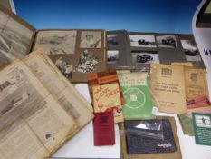 A COLLECTION OF 1940s AEROPLANE SPOTTER MAGAZINES, AN ALBUM OF LAND SPEED MEMORABILIA, ANOTHER OF
