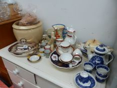 A QTY OF DINNERWARES, COFFEE SET, ETC.