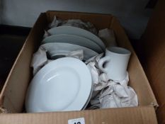 A WHITEWARE DINNER SERVICE.