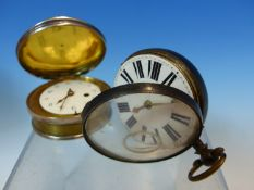 TWO FUSEE POCKET WATCHES IN SILVER CASES, ONE BY WALDFOGEL AND SIEDLER AND THE OTHER BY COULON,