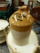 """A LARGE FLAGON BY PRICE, """"HANBURY AND COMPANY 3095 TAUNTON""""."""