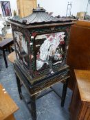 AN AEOLIAN Co. Ltd. VOCALION 2134 ELECTRIC GRAMOPHONE WITHIN A BLACK GROUND CHINOISERIE CABINET, THE