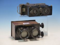 A STEREOSCOPIC CAMERA , ICA- POLYSCOPE AND MARKED TO THE BACK THE VERASCOPE. FITTED WITH ZEISS