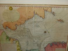 AFTER CAPT. JOHN HAMMOND. AN ANTIQUE HAND COLOURED LARGE FOLIO MAP, NORTH OR GERMAN SEA 1791. 75 x