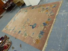 A CHINESE ART DECO DESIGN CARPET 362 x 273cms.