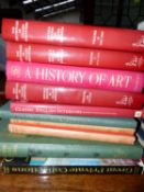 A COLLECTION OF BOOKS -ART AND ANTIQUES (QTY)