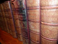 THE ENCYLOPEDIA BRITANNICA, 1875-88 TOGETHER WITH BURKES PEERAGE, TWO VOLUMES, 1898.