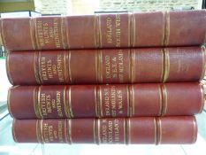 SPORTING LIFE, BRITISH HUNTS AND HUNTSMEN, FOUR VOLUMES 1908-1911, LARGE QUARTO, QUARTER BOUND IN