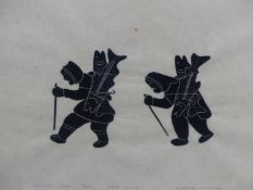 INUIT ART. MARK EMERAK (HOLMAN 1901 - ****). GOOD CATCH. PENCIL SIGNED AND NUMBERED 15/50, COLOUR