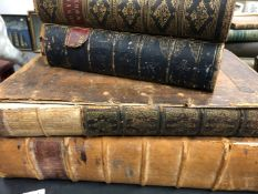 A COLLECTION OF BOOKS RELATING TO RELIGION TO INCLUDE WILLOUGHBYS BIBLE, 1772, COTELERIUS ON THE