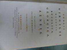 PUBLII VIRGILII MARONIS BUCOLICA GEORGICA ET AENEIS. -EX EDITIONS PETRI BURMANNI- TWO VOLUMES IN