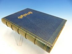 ANDRE SIMON, THE NOBLE GRAPES AND THE GREAT WINES OF FRANCE, QUARTO, BOUND IN BLUE LEATHER.