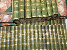 SIR WALTER SCOTT. THE WAVERLEY NOVELS, FORTY EIGHT VOLUMES, 1851, OCTAVO, HALF BOUND IN GREEN
