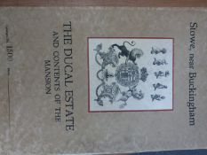MESSRS JACKSON STOPS 1921 SALE CATALOGUE OF THE DUCAL ESTATE OF STOWE OVER 19 DAYS FROM JULY 4TH