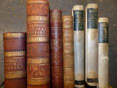 JOHN RUSKIN, ON THE OLD ROAD, THREE VOLUMES, 1885, VELLUM BOUND, THE RUSKIN BIRTHDAY BOOK, TURNERS