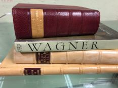 BARTH, MACK AND VOS, WAGNER, HAREWOOD, KOBBES COMPLETE OPERA BOOK, 1969 AND TWO VELLUM QUARTER BOUND
