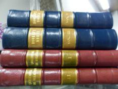 THE REV. JOHN KEBLE, HOOKERS WORKS, TWO VOLS. 2nd EDIT, 1841, QUARTER BOUND IN BLUE LEATHER TOGETHER