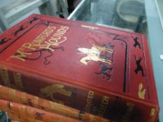ROBERT SURTEES, SIX VOLUMES, 1847-58, ILLUS. JOHN LEECH AND HABLOT BROWNE, THE LATTER FOR HAWBUCK