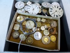 A COLLECTION OF POCKET AND WRIST WATCH MOVEMENTS (QTY)
