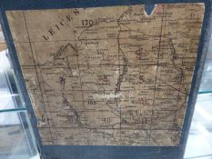 A CASED SET OF ELEVEN 1887 ORDNANCE SURVEY FOLDING MAPS OF NORTHAMPTONSHIRE TO A SCALE OF SIX INCHES