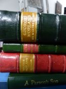 EIGHT VOLUMES ON SPORTING ARTISTS TO INCLUDE MORLAND, MUNNINGS, STUBBS, ALKEN AND THE CLOWES