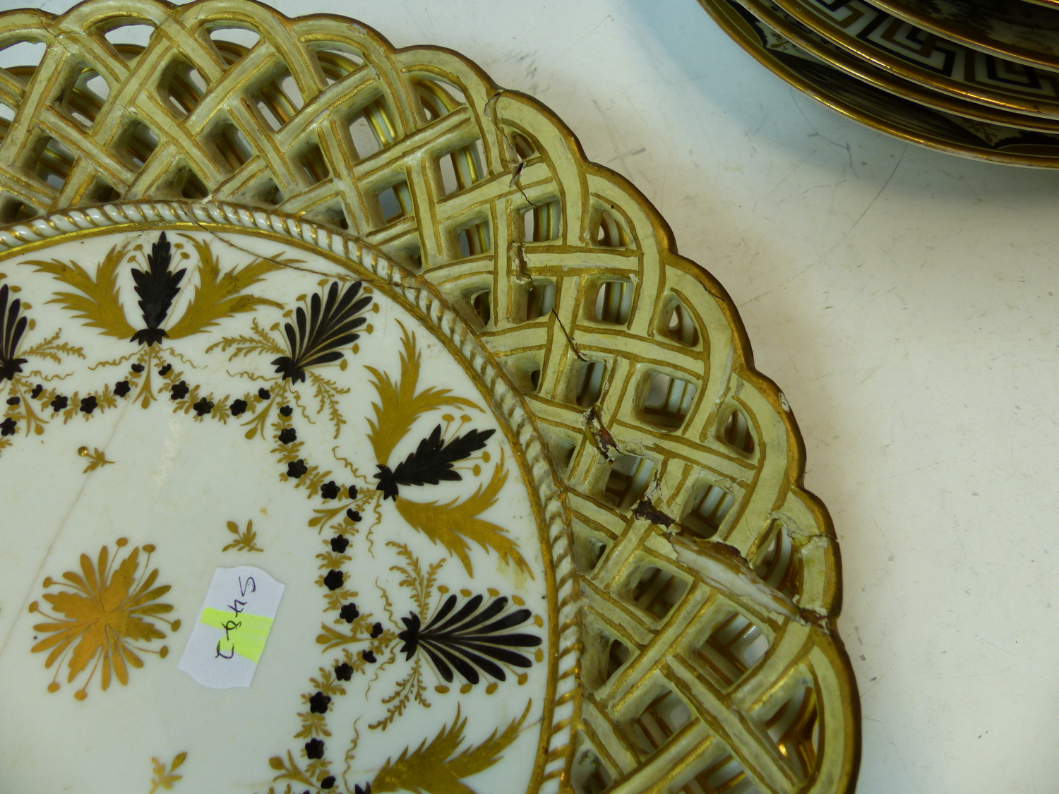 Lot 1709 - A COLLECTION OF PARIS PORCELAIN NEOCLASSICAL GILT AND BLACK DECORATED WARES TO INCLUDE A PAIR OF