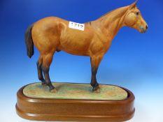 A 1962 ROYAL WORCESTER FIGURE OF AN AMERICAN REGISTERED QUARTER HORSE MODELLED BY DORIS LINDNER. W