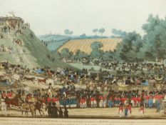 AFTER J SOLTARD. AN ANTIQUE HAND COLOURED PRINT ENTITLED THE CEREMONY OF THE PROCESSION ADMONTEM