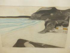 JOHN BRUNSDON (1933-2014). ARR. GOLDEN CUP, PENCIL SIGNED LIMITED EDITION COLOUR PRINT 48.5 x