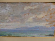 CHARLES McCARTHY. CONTEMPORARY. ARR. JURA, SIGNED GOUACHE ON BOARD. 15.5 x 22.5cms TOGETHER WITH