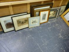 A QUANTITY OF DECORATIVE PRINTS AND PICTURES. (10)