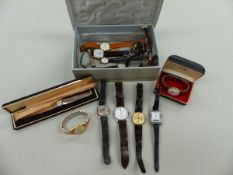 A COLLECTION OF WATCHES TO INCLUDE A VERITY PRESENTATION WRIST WATCH, ROTARY, TREBEX, NEWMARK 52,
