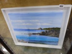 OIL ON CANVAS COASTAL SCENE, BY JOHN HEYWOOD - TO BE SOLD ON BEHALF OF THAMES VALLEY AIR AMBULANCE.