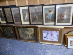 EIGHT CRIES OF LONDON PRINTS, TWO OTHERS AFTER GEORGE MORLAND, AND OTHER DECORATIVE PRINTS.