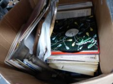 A LARGE BOX OF RECORDS.