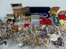A LARGE QUANTITY OF COSTUME JEWELLERY.