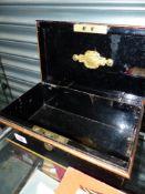 A VINTAGE CHUBB CASH BOX.