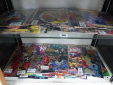 A COLLECTION OF MARVEL AND DC COMICS.