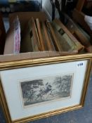 TWELVE THEAMED DR. SYNTAX 19TH C. FRAMED ENGRAVINGS.