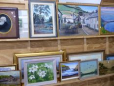 LARGE QUANTITY OF PAINTINGS.
