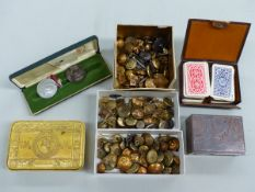 MILITARY INTEREST COLLECTABLE'S TO INCLUDE, A 1914 PRINCESS MARY CHRISTMAS TIN COMPLETE WITH