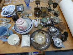 VARIOUS CHINA, SILVER PLATED WARES, HALLMARKED SILVER ETC.