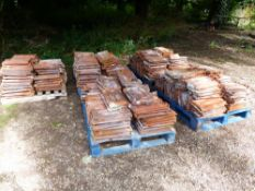 APPROX 300-400 FRENCH TERRERCOTTA ROOF TILES.