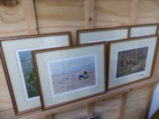 A SET OF FIVE PENCIL SIGNED PRINTS, BY ARCHIBALD THORBURN.